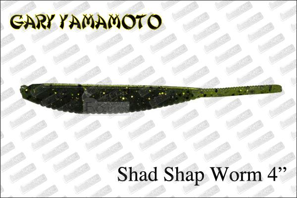 GARY YAMAMOTO Shad Shape Worm 4''