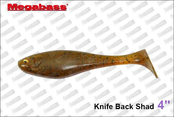 MEGABASS Knife Back Shad 4''