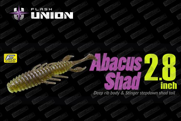 FLASH UNION Abacus Shad 2.8''