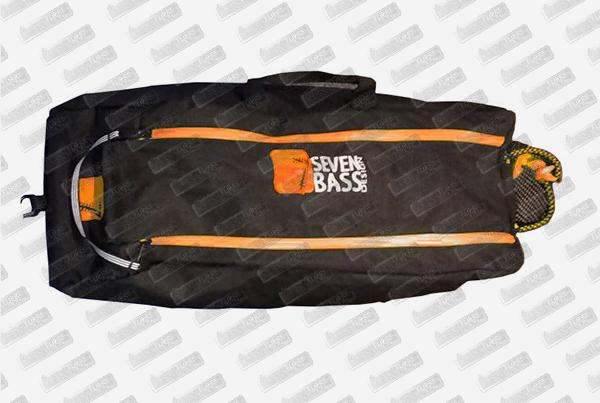 SEVEN BASS Sacoche Float tube Flax Cargo Classic Orange (Toile)