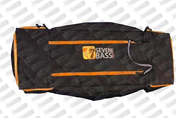 SEVEN BASS Sacoche Float tube Flax Cargo Classic Plus Orange (Toile)